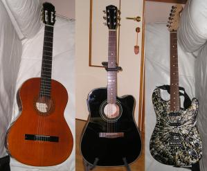 Visione d\'insieme delle mie chitarre
