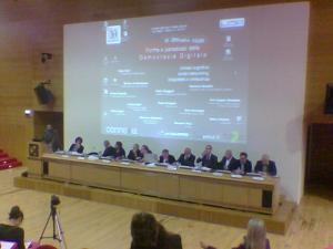 Tavolo dei relatori del convegno