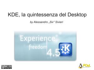 Introduzione a KDE