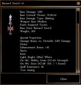 Bastard sword +10