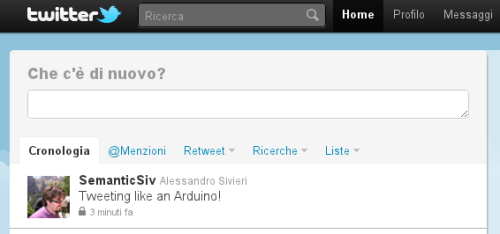 Tweet in the Web site...
